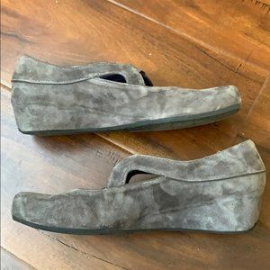 Vaneli Suede Loafers Wedge Shoes